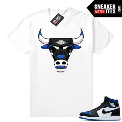 Royal Toe 1s graphic tees Rare Air Bull