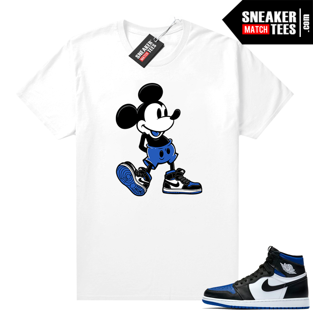 Royal Toe 1s graphic tees Sneakerhead Mickey