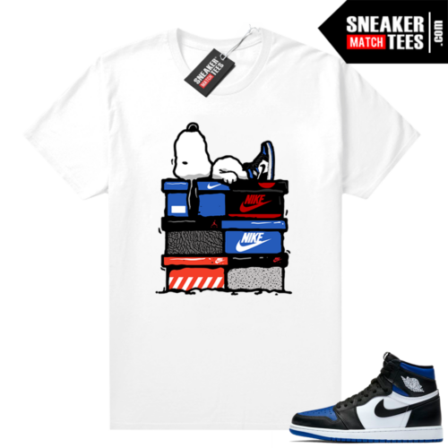 Royal Toe 1s graphic tees Sneakerhead Snoopy