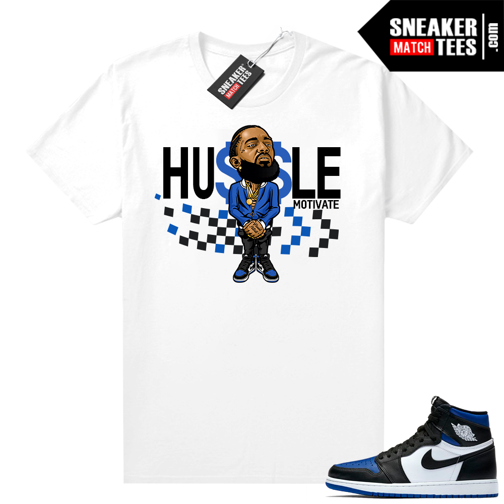 Royal Toe 1s sneaker tees Hussle Motivate