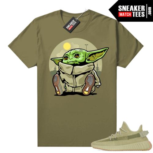 Sulfur 350 Yeezy Shirt Olive Baby Yoda