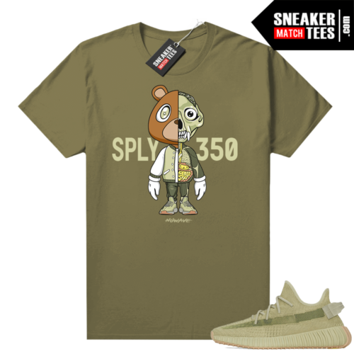 Sulfur 350 Yeezy Shirt Olive Bear Anatomy