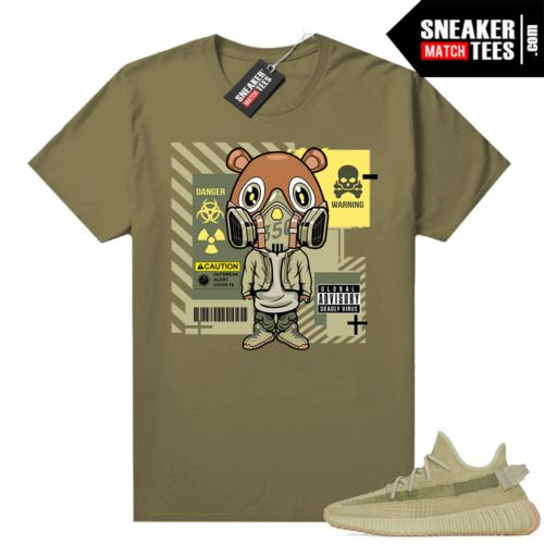 Sulfur 350 Yeezy Shirt Olive Gas Mask Bear Covid 19
