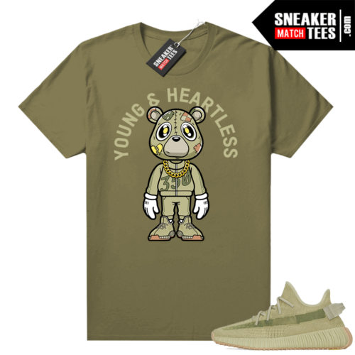 Sulfur 350 Yeezy Shirt Olive Young & Heartless Bear