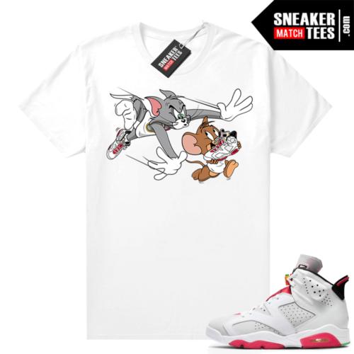 Hare 6s Jordan Sneaker tees White Finesse