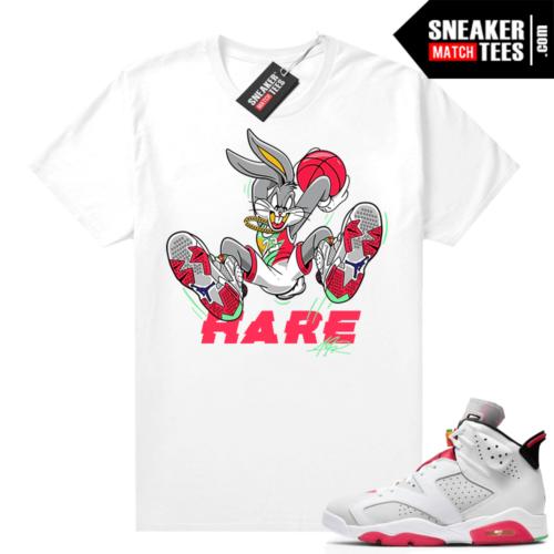 Hare 6s Jordan Sneaker tees White Hare Air