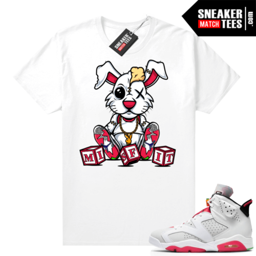 Hare 6s Jordan Sneaker tees White Misfit Hare