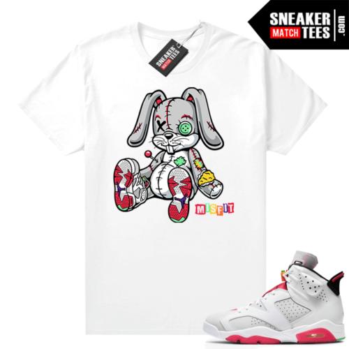 Hare 6s Jordan Sneaker tees White Misfit Rabbit