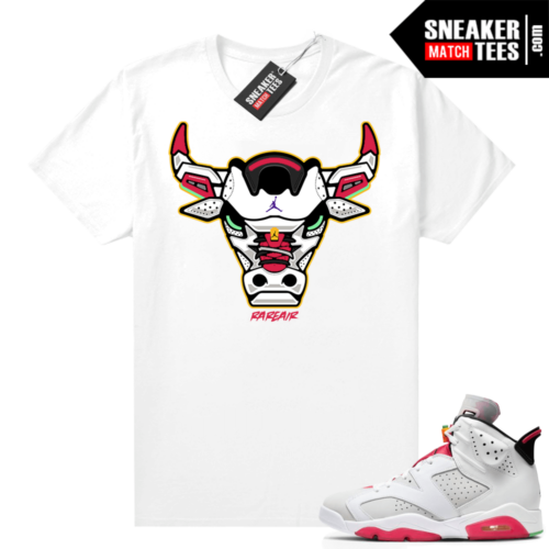 Hare 6s Jordan Sneaker tees White Rare Air Bull