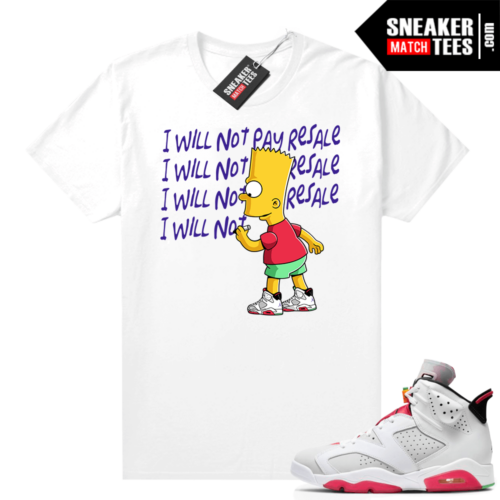 Hare 6s Jordan Sneaker tees White Will Not Pay Resale