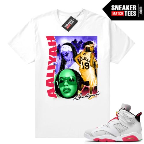 Hare 6s matching shirt Aaliyah Vintage Style Rap tee