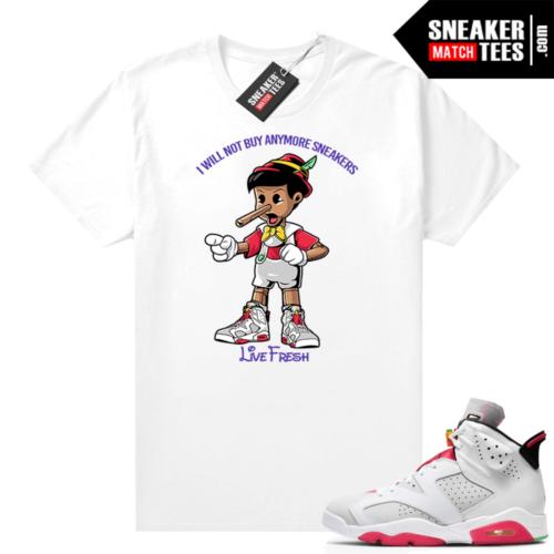 Hare 6s matching shirt Sneakerhead Pinocchio