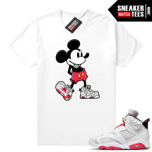 Hare 6s shirt to match Sneakerhead Mickey