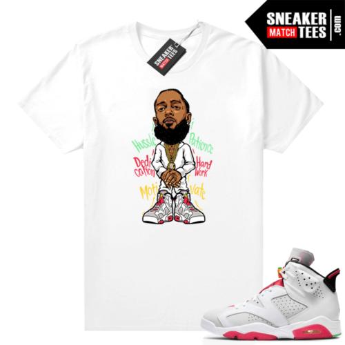 Hare 6s sneaker shirts Nipsey Hussle