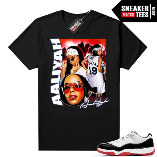 Jordan 11 Low Concord Bred Sneaker tees Black Aaliyah Vintage Rap
