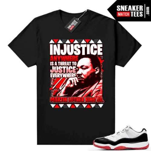 Jordan 11 Low Concord Bred Sneaker tees Black MLK Justice