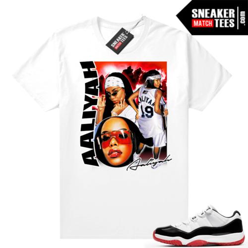 Jordan 11 Low Concord Bred Sneaker tees White Aaliyah Vintage Rap