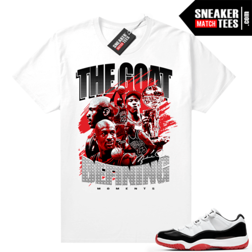 Jordan 11 Low Concord Bred Sneaker tees White Defining Moments