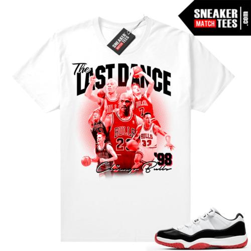 Jordan 11 Low Concord Bred Sneaker tees White The Last Dance