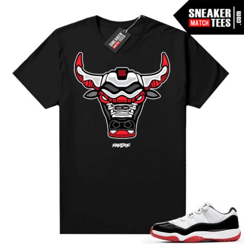 Jordan 11 Low Concord Bred shirt Black Rare Air Bull