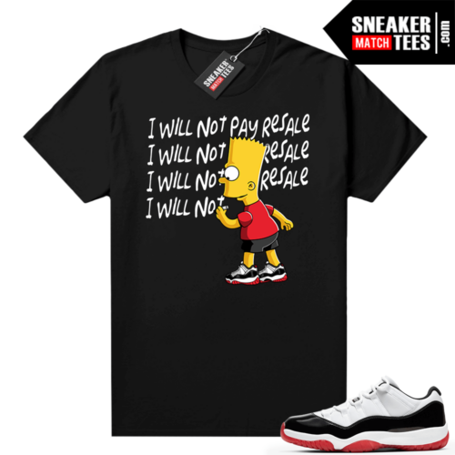 Jordan 11 Low Concord Bred shirt Black Will Not Pay Resale