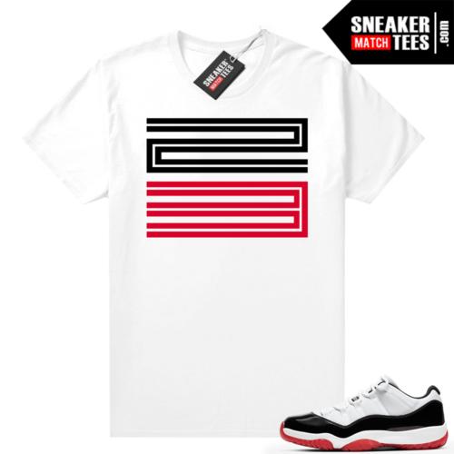 Jordan 11 Low Concord Bred shirt White 23 11s logo