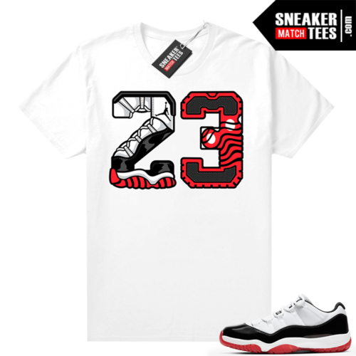 Jordan 11 Low Concord Bred shirt White 23