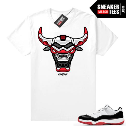 Jordan 11 Low Concord Bred shirt White Rare Air Bull
