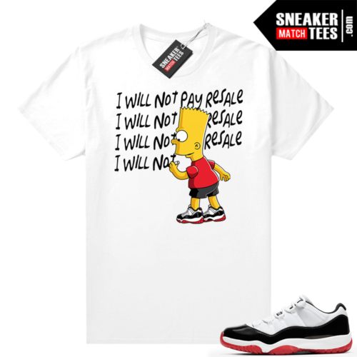 Jordan 11 Low Concord Bred shirt White Will Not Pay Resale
