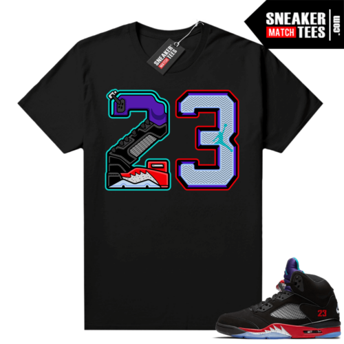 Jordan 5 Top 3 OG shirts Black 23
