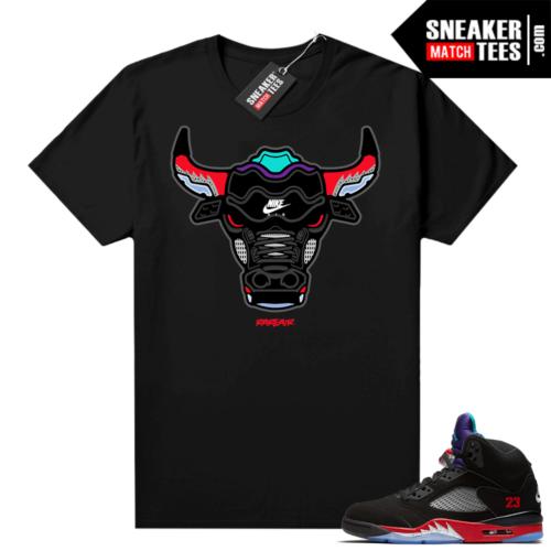Jordan 5 Top 3 matching shirts Rare Air Bull