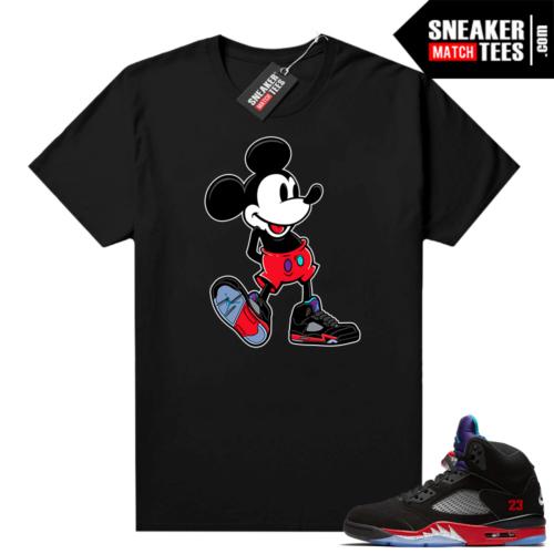 Jordan 5 Top 3 sneaker shirts Sneakerhead Mickey