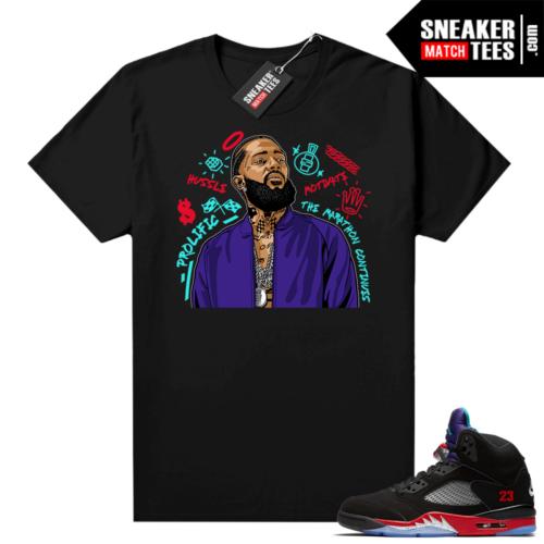 Jordan 5 Top 3 sneaker tees Nipsey Tribute