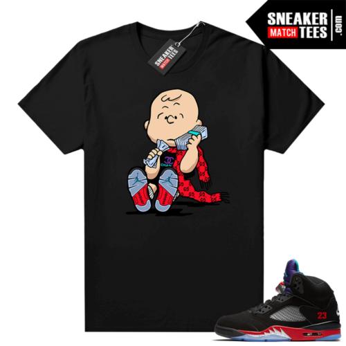 Jordan 5 Top 3 t-shirt to match Designer Charlie