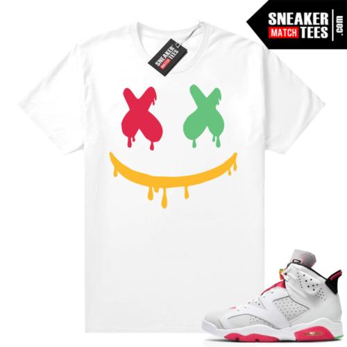 Jordan 6 Hare Sneaker tees Smiley Drip