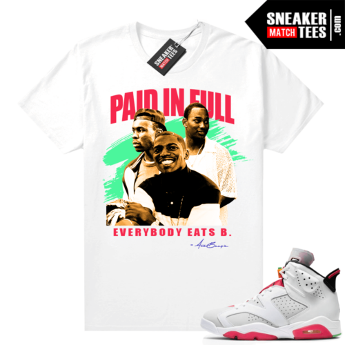 Jordan Hare 6s shirt Paid In Full Vintage Movie Tee