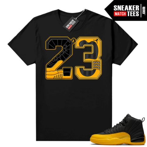 Sneaker Match Jordan 12 University Gold tees