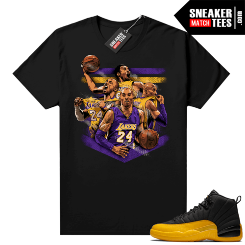 Jordan 12 University Gold Sneaker shirt
