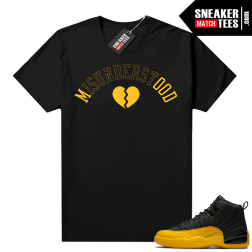 University Gold 12s shirts to match sneakers