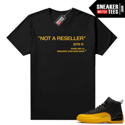 University Gold 12s sneaker shirts