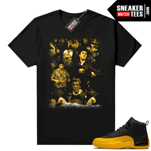 Sneaker tees University Gold 12s