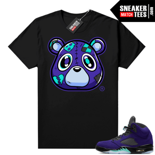 Jordan 5 Alternate Grape Shirts Black Heartless Bear