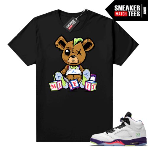 Bel-Air 5s Alternate shirts Black Misfit Teddy