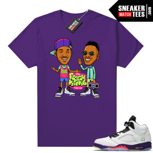 Bel Air 5s Alternate shirts Purple Will and Jazz