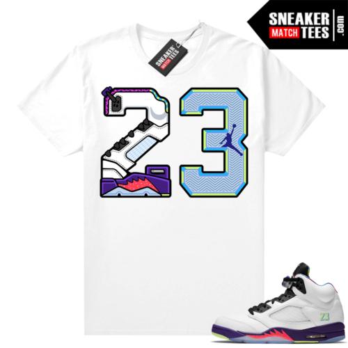 Bel Air 5s Alternate shirts White 23