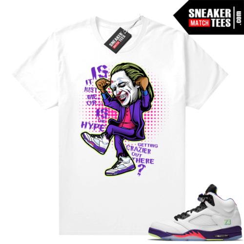 Sneaker shirts match Bel Air 5s Alternate