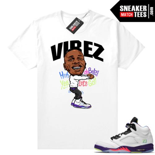 Match Bel Air Jordan 5s shirts