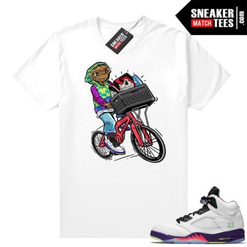 Jordan 5 Bel Air White Ghost Green Sneaker tees