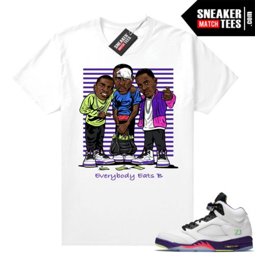 Bel Air 5s Alternate shirts White Everybody Eats B