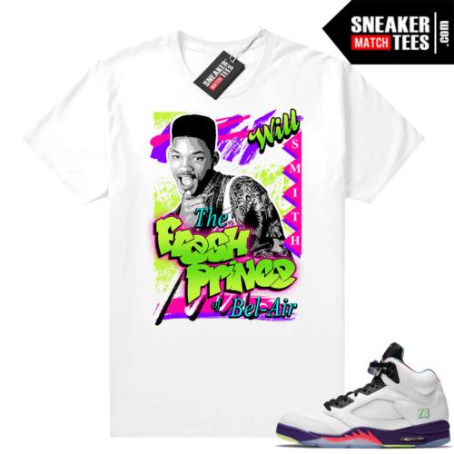 Fresh Prince shirts matching Jordan 5 Bel Air
